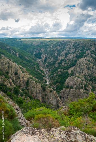 Les gorges du Chassezac et Paysage de Lozère,Occitanie.