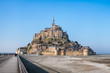 Mont Saint Michel abbey in a beautiful day, France