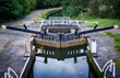 Lock gates on canal