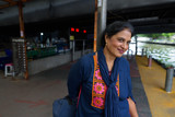 Mature beautiful Indian woman exploring the city of Bangkok, Tha - 244197925