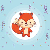 cute and little fox character - 244271947