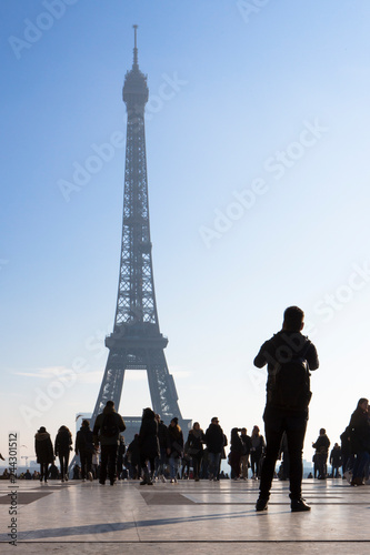 Wall mural Trocadero place paris destination