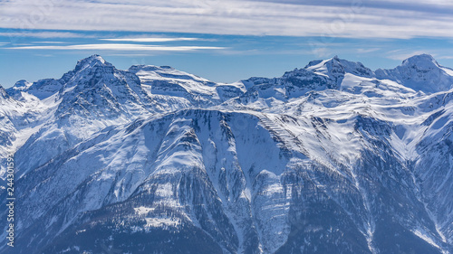 Panorama view on alps from Eggishorn - 244301593