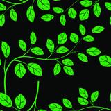 Beautiful leaves seamless pattern vector illustration eps 10.