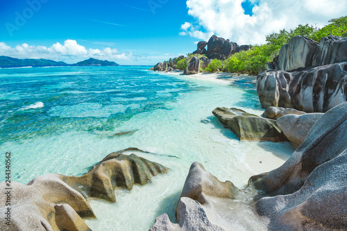 The most beautiful beach of Seychelles - Anse Source D'Argent - 244340562