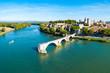 Avignon city aerial view, France