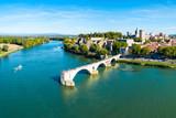Avignon city aerial view, France - 244344361