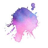 Abstract hand drawn watercolor blot - 244372565