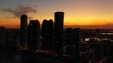 Modern condominiums Sunny Isles Beach FL USA - 244383732
