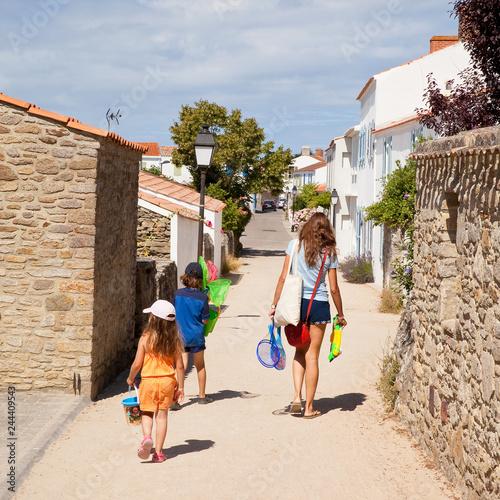 Poster Rue de Noirmoutier en île en été > Vendée > France
