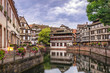 Strasbourg France, Colorful Half Timber House city skyline - 244450163