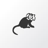 Marmoset icon symbol. Premium quality isolated ape element in trendy style. - 244505513