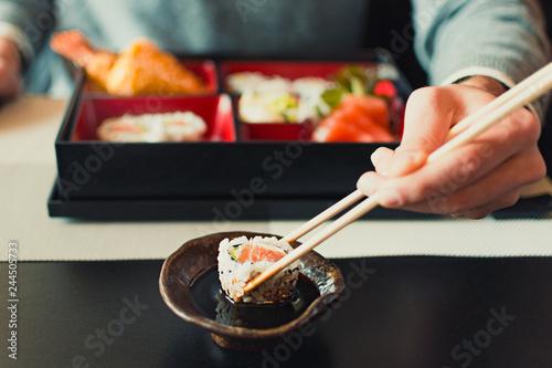 Sticker Sushi Japanese food bento box
