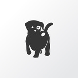 Puppy icon symbol. Premium quality isolated dog element in trendy style.