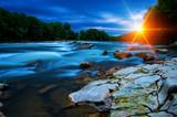 Fototapeta Na ścianę - River water and sun © Alekss