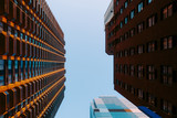Looking up at buildings in Manhattan, New York, USA - 244527731
