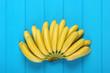 Leinwandbild Motiv Banana baby on blue