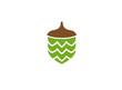 hazelnut dry fruit food, green seed logo - 244547148