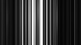 White and black vertical bars. Computer generated abstract motion background. Seamless loop 3D render animation - 244547906