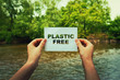 Leinwandbild Motiv plastic free zone