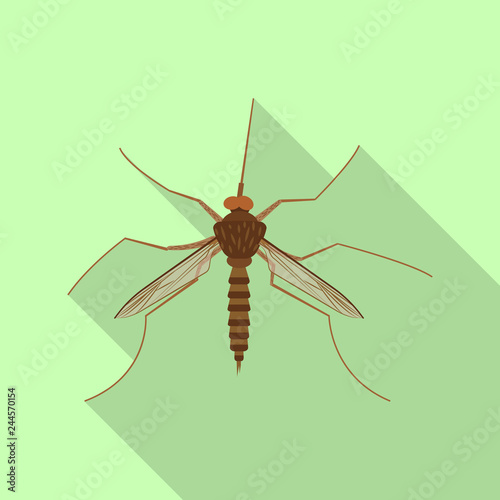 Isolated object of insect and fly symbol. Set of insect and element stock vector illustration. - 244570154