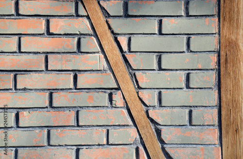 brick wall and background - 244573125