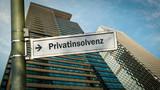 Schild 358 - Privatinsolvenz - 244574105