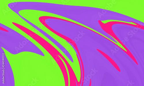 Leinwandbild Motiv Abstract swirled marbled pattern vibrant color background