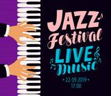 Jazz festival poster. Live music, concert concept. Vector illustration