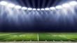 Leinwandbild Motiv American football stadium low angle field view