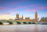 Fototapeta Londyn - Big Ben and Houses of Parliament in London © f11photo
