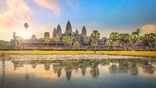 Leinwandbild Motiv sunrise at Ankor Wat, Siem Reap, Cambodia
