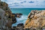 Fototapeta Fototapety z morzem - Gouffre de Plougrescant, Côtes-d'Armor, Bretagne, France. © Bernard GIRARDIN