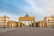 Berlin Germany, city skyline at Brandenburg Gate (Brandenburger Tor)