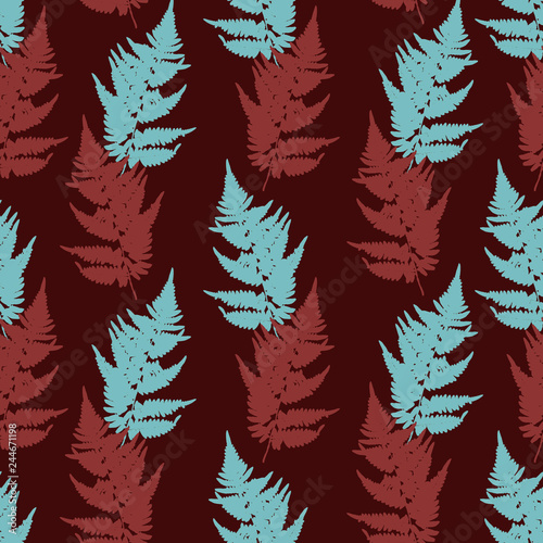 seamless pattern with leaves silhouettes © cat_arch_angel