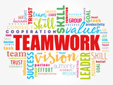 Teamwork word cloud collage, business concept background - 244678167