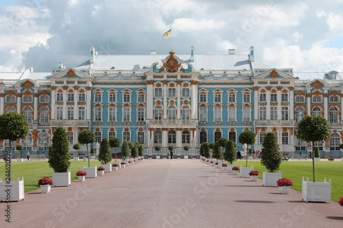 Poster The facade of the Catherine Palace. The front yard. Pushkin City.