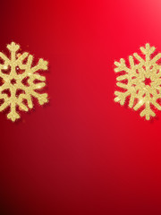 Snowflakes in red background. EPS 10