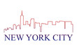 New York city logo vettoriale  - 244710376