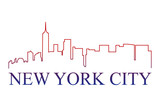 New York city logo vettoriale  poster