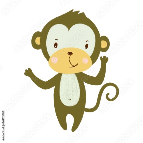 illustration of a monkey