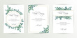 Banner on flower background. Wedding Invitation, modern card Design. Save the Date Card Templates Set with Greenery, Decorative Floral and Herbs Element. Vintage Botanical. eps 10 - 244726366