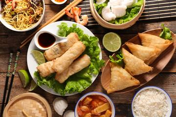asian food assortment