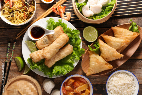 asian food assortment - 244741786