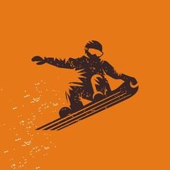 Сноубордист на сноуборде