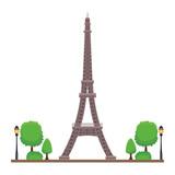 Fototapeta Wieża Eiffla - eiffel tower icon © Jemastock