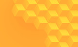 Abstract orange background with 3d cubes pattern.