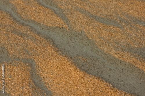 Beach, evening, sand. - 244851188