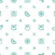 diet icons pattern seamless white background