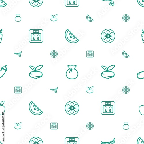 diet icons pattern seamless white background - 244862919